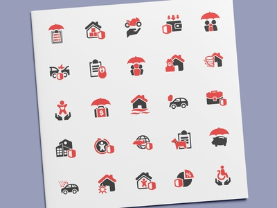 Risk & Insurance Icons
