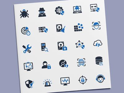 Antivirus & Internet Security Icons