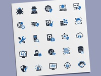 Antivirus & Internet Security Icons