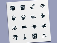 Washing & Cleaning Icons