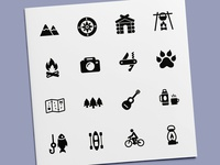 Camping & Hiking Icons