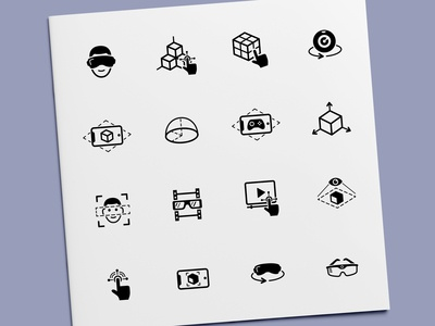 Augmented Reality & Virtual Reality Technology Icons