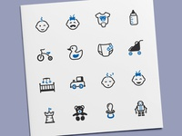Baby & Toys Icons