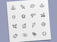 Space & Astronomy Icons