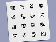 Web Hosting Services Icons