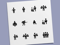 Stick Figure - Rich & Poor People Icons