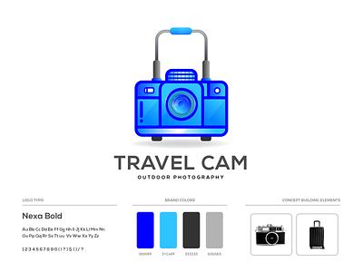 Travel Cam Logo Design tour photography logo travel agency brand identity camera travel camera outdoor photography travel illustration branding brand guideline logo design logo