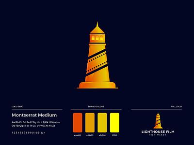Lighthouse Film Logo Design brand guide logo design film logo entertainment film lighthouse logo lighthouse design brand guideline brand identity illustration branding logo