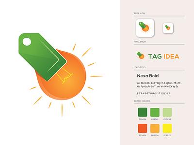 Tag Idea Logo Design light bulb tag idea gradient ui design brand identity branding illustration logo design logo