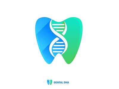 Dental DNA Logo Design design brand guide medical tooth dna dental brand guideline brand identity illustration branding logo design logo