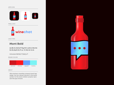 Winechat Logo Design