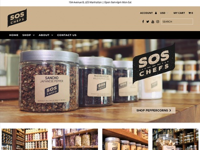 SOS Chefs e-commerce photography ui ux websites web design