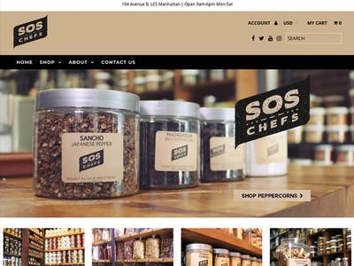 SOS Chefs e-commerce photography ui ux websites web design