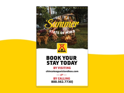 KOA yellow branding graphic design poster design flyer design koa