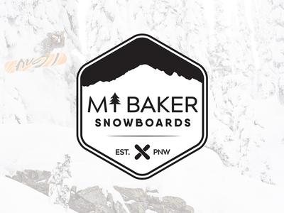 Mt. Baker Snowboards lifestyle outdoors snowboard branding project logo design branding