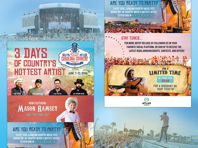 Carolina Country Music Festival mason ramsey country music marketing graphic design email eblast branding music festival