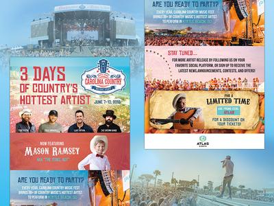 Carolina Country Music Festival mason ramsey country music marketing graphic design email eblast branding music festival
