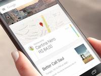 Google Now Card - Concept
