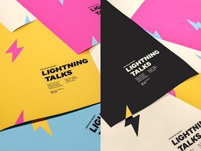 Lightning Talks prints typogaphy art direction logo design branding photograhy print