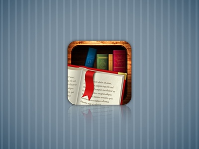 Book app icon illustration ui iphone