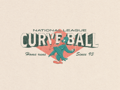 Curveball Design for Sale branding merchandise t-shirt design tee design mascot design vintage design merch