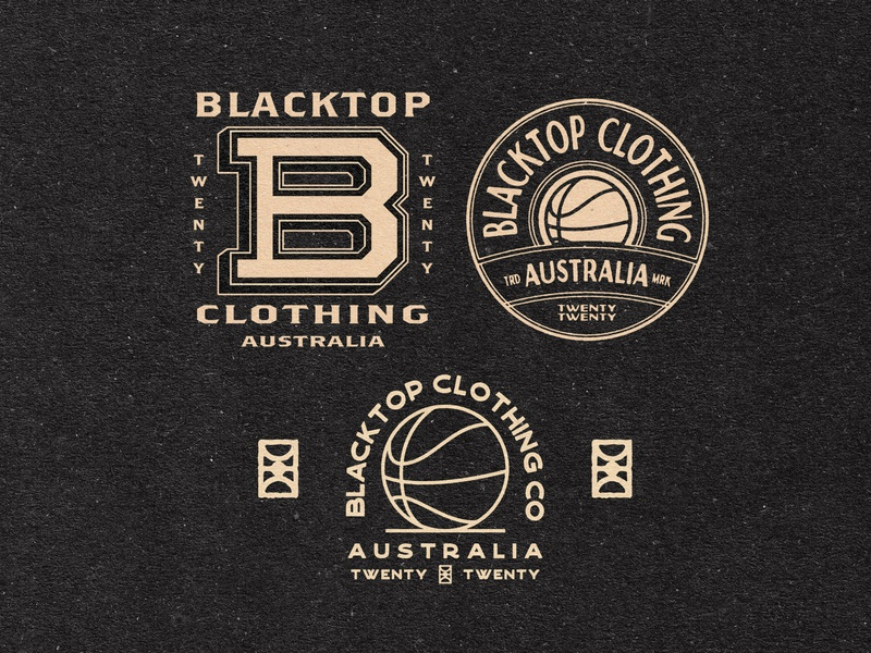 Blacktop Clothing Logo Exploration brand strategy brand identity logo lockups badge design logodesign logo sport branding sports branding design advertising merchandise illustration branding