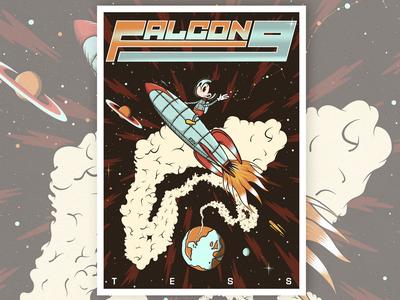 Falcon 9 X Mickey Mouse Private Commission