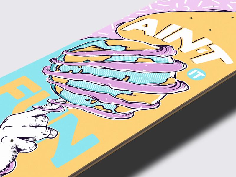 Paramore Inspired Skateboard Deck merchandising band merchandise band merch paramore illustration paramore thrasher deck design skateboard illustration skateboard design skateboard graphics skateboarddesign illustration