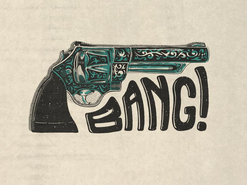 BANG! - Imported Americana graphic design poster art advertising agency 50s design poster design design merchandise advertising branding illustration