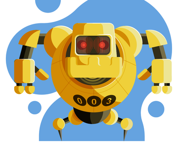 Robot3 robot gamedesign characterdesign illustrator illustration art adobeillustator vector art