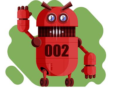 Robot2 characterdesign illustracion vector illustrator illustration adobeillustator illustration art