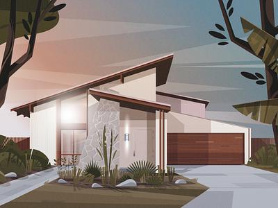 House2 lanscape arquitecture adobeillustator illustration illustrator vector art illustration art