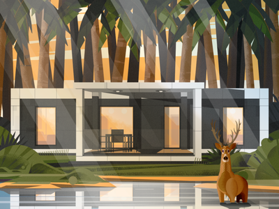 Nature house illustracion vector vector art illustration art