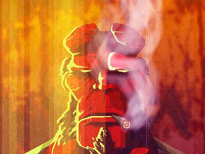 Hellboy vector art characterdesign illustrator adobeillustator illustration art