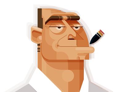 Smoker3 characterdesign illustration portrait illustration vector art illustracion adobeillustator illustration art