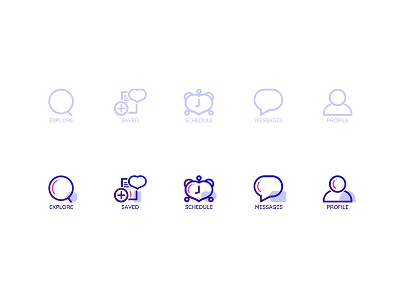 Inactive & Hover icons for volunteering iOS app by Alex
