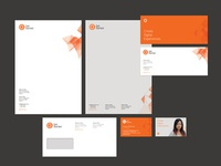 Rebrand stationery for the company I work for
