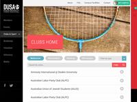 DUSA - student association responsive UI