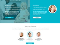 Healthworks Landing Page sections