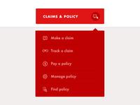 Drop Down menu for insurance