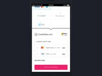 Saved Credit Card option on Mobile