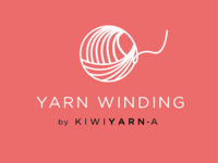 Yarn winding service logo for a craft business