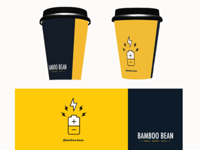 Coffee cup graphic for a friend's cafe