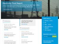 Website UI for a regional Authority