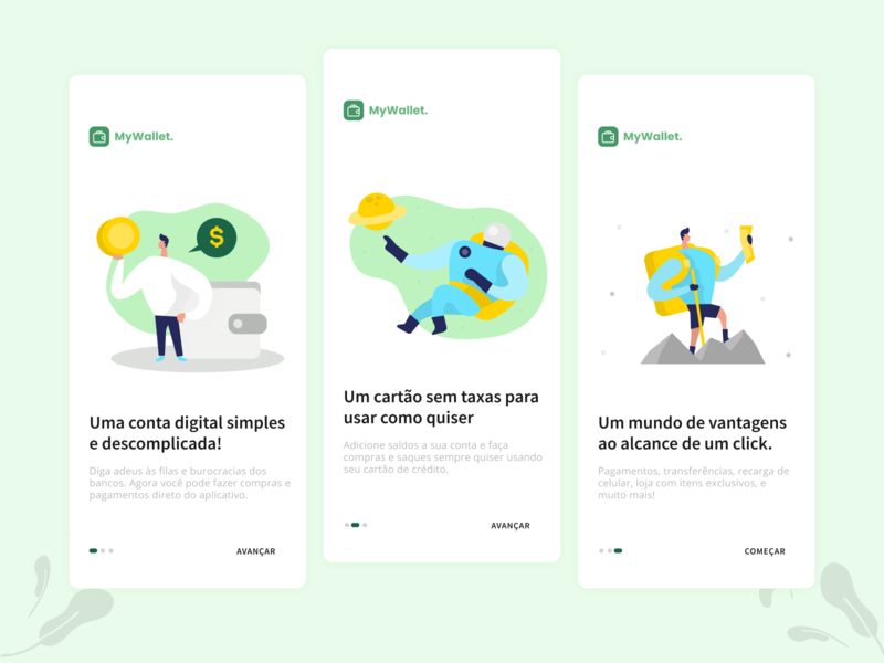 Onboarding screens app minimal illustration interface ui design mobile ui design onboarding