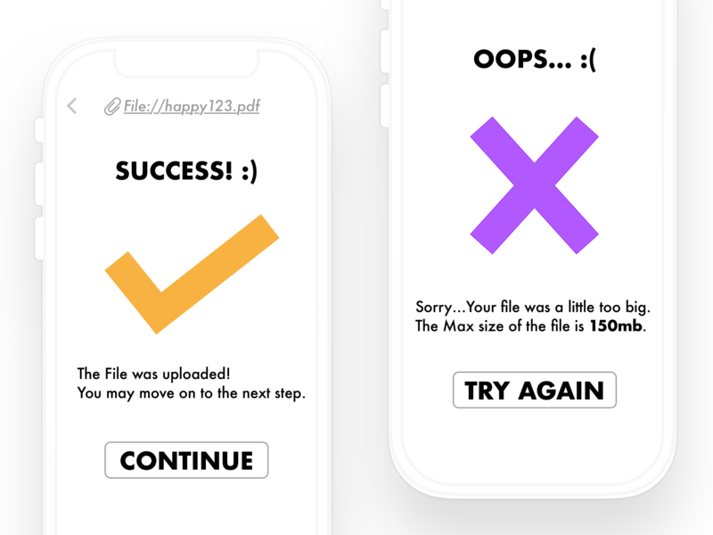 Daily UI #011 Flash Message (Success/Error) 011 error message success message flash messages flash message designchallenge daily ui dailyui daily 100 challenge design ui