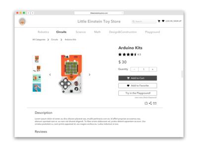 Daily UI #012 E-Commerce Shop - Single Item