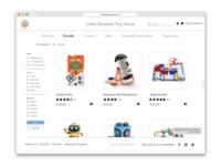 E-Commerce Website Product Listing
