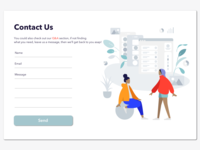 Daily UI #028 Contact Us submission contact contact page contact form contactus contact us illustration website designchallenge daily ui dailyui daily 100 challenge design ui