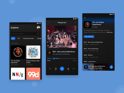 Daily UI 009 - Music player with a twist mobile player dailyuichallenge design practice music player music app podcast app practice ux practice user interface design app